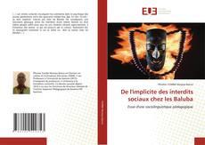 Capa do livro de De l'implicite des interdits sociaux chez les Baluba