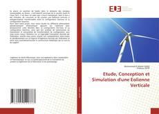 Capa do livro de Etude, Conception et Simulation d'une Eolienne Verticale
