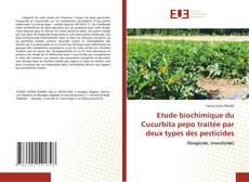 Обложка Etude biochimique du Cucurbita pepo traitée par deux types des pesticides