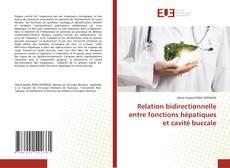 Portada del libro de Relation bidirectionnelle entre fonctions hépatiques et cavité buccale