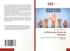 A l'Ecole des Droits de l'Homme的封面