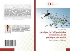 Capa do livro de Analyse de l'efficacité des instruments de la politique monétaire