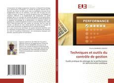 Couverture de Techniques et outils du contrôle de gestion