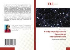 Copertina di Etude empirique de la dynamique entrepreneuriale