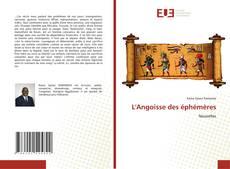 Обложка L'Angoisse des éphémères