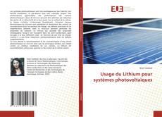 Borítókép a  Usage du Lithium pour systèmes photovoltaïques - hoz