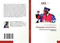 Couverture de Pédagogie universitaire :
