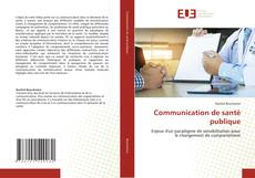 Couverture de Communication de santé publique