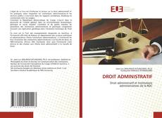 Bookcover of DROIT ADMINISTRATIF