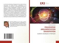 Bookcover of PHILOSOPHIE ARGUMENTATION DISSERTATION