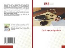 Borítókép a  Droit des obligations - hoz