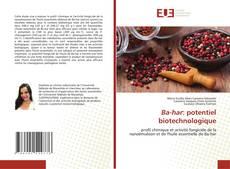 Couverture de Ba-har: potentiel biotechnologique