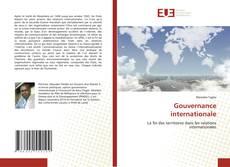 Copertina di Gouvernance internationale