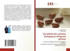 Copertina di Variabilité des activités biologiques d'Argania spinosa