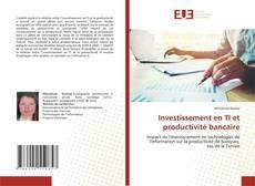 Buchcover von Investissement en TI et productivité bancaire