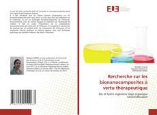 Portada del libro de Rercherche sur les bionanocomposites à vertu thérapeutique