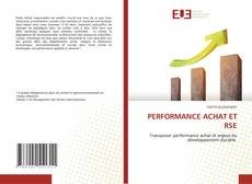 Bookcover of PERFORMANCE ACHAT ET RSE
