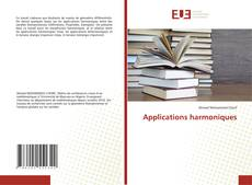 Couverture de Applications harmoniques