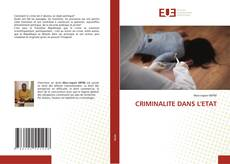 Buchcover von CRIMINALITE DANS L'ETAT