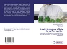 Quality Assurance of Poly Herbal Formulation kitap kapağı