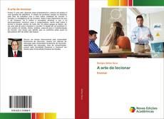 A arte de lecionar kitap kapağı