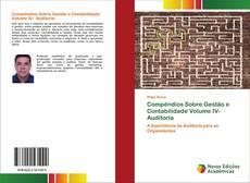Portada del libro de Compêndios Sobre Gestão e Contabilidade Volume IV- Auditoria