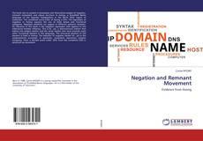 Copertina di Negation and Remnant Movement