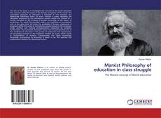 Capa do livro de Marxist Philosophy of education in class struggle