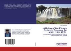 A History of Land Tenure System in Ennabssie Sar Midir, (16th -20th) kitap kapağı