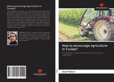 Buchcover von How to encourage agriculture in Tunisia?