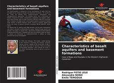 Capa do livro de Characteristics of basalt aquifers and basement formations