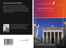 Portada del libro de Tesis de Filosofía Política
