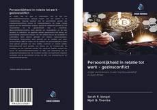 Buchcover von Persoonlijkheid in relatie tot werk - gezinsconflict