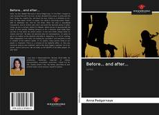 Bookcover of Before... and after...
