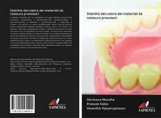 Bookcover of Stabilità del colore dei materiali da restauro provvisori