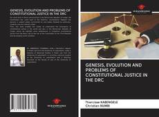 Buchcover von GENESIS, EVOLUTION AND PROBLEMS OF CONSTITUTIONAL JUSTICE IN THE DRC