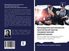 Buchcover von Процедурное рассмотрение преступлений против государственной администрации