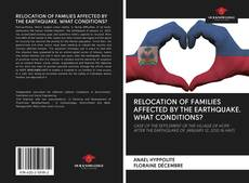 Bookcover of RELOCATION OF FAMILIES AFFECTED BY THE EARTHQUAKE. WHAT CONDITIONS?