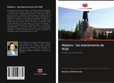 Buchcover von Histoire : les événements de 1920