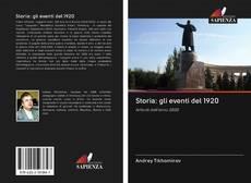 Обложка Storia: gli eventi del 1920