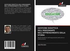 Copertina di GESTIONE DIDATTICA DELL'INSEGNANTE NELL'APPRENDIMENTO DELLA STORIA