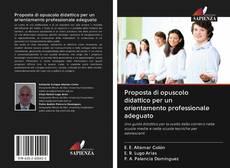 Copertina di Proposta di opuscolo didattico per un orientamento professionale adeguato