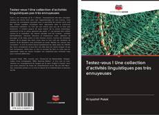 Testez-vous ! Une collection d'activités linguistiques pas très ennuyeuses kitap kapağı