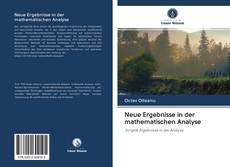 Couverture de Neue Ergebnisse in der mathematischen Analyse