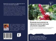 Bookcover of Влияние высыхания на эфирное масло листьев альпинии зирумбет