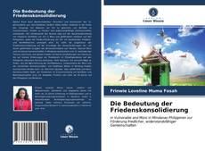 Bookcover of Die Bedeutung der Friedenskonsolidierung