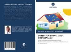 Bookcover of DIMENSIONIERUNG EINER SOLARANLAGE