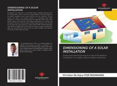 Bookcover of DIMENSIONING OF A SOLAR INSTALLATION