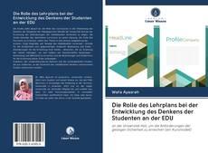 Couverture de Die Rolle des Lehrplans bei der Entwicklung des Denkens der Studenten an der EDU