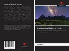 Bookcover of Universal criterion of truth